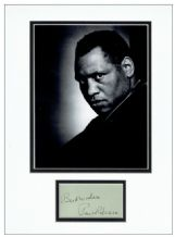 Paul Robeson Autograph Signed